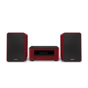 OnkyoColibrino CD Hi-Fi Mini System with Bluetooth (Red)