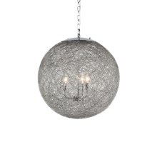 3-Light Contemporary Chandelier in Chrome Finish