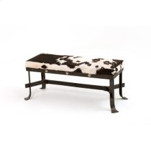 Steel Traditions - Stockton Bench With Conchos With Hair On Hide
