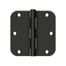 """3 1/2""""x 3 1/2""""x 5/8"""" Radius Hinge, Residential Thickness - Oil-rubbed Bronze"""