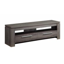 Transitional Weathered Grey TV Console