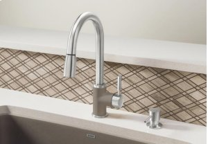 Blanco Sonoma With Pull-down Spray 1.5 Gpm Silgranit - Metallic Gray