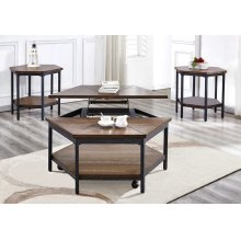 Ultimo Hexagon LiftTop Cocktail Table w/Casters