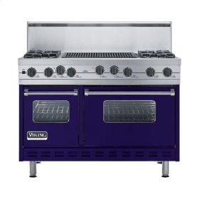 """Cobalt Blue 48"""" Sealed Burner Self-Cleaning Range - VGSC (48"""" wide, four burners & 24"""" wide char-grill)"""