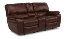 Grandview Leather Power Reclining Loveseat with Console