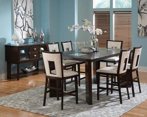 "Delano Counter Table, 44""x60""x 78""x w/ 18"" Leaf"
