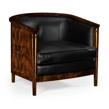 Knightbridge Tub Chair with Black Leather