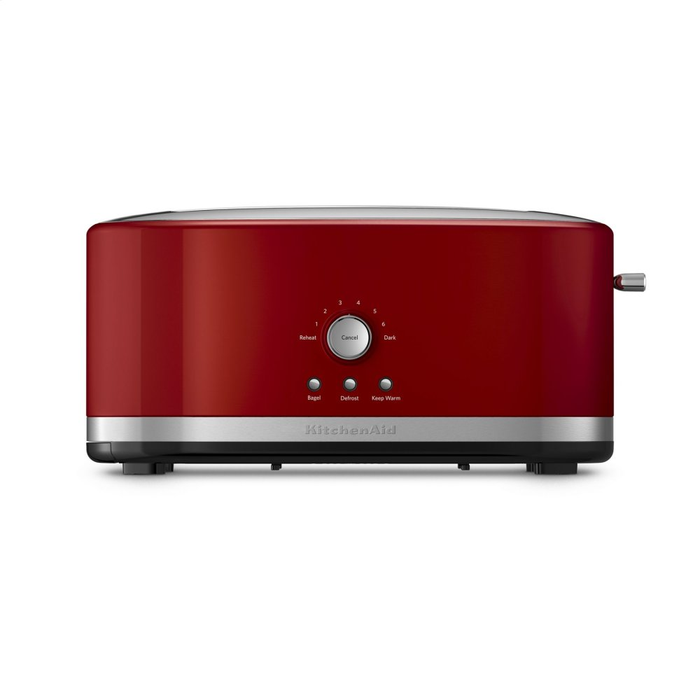 4-Slice Long Slot Toaster with High Lift Lever - Empire Red