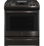 "GE® 30"" Slide-In Front Control Convection Gas Range Product Image"