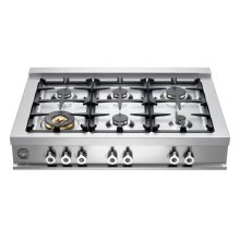 36 6-Brass Burner Range Top