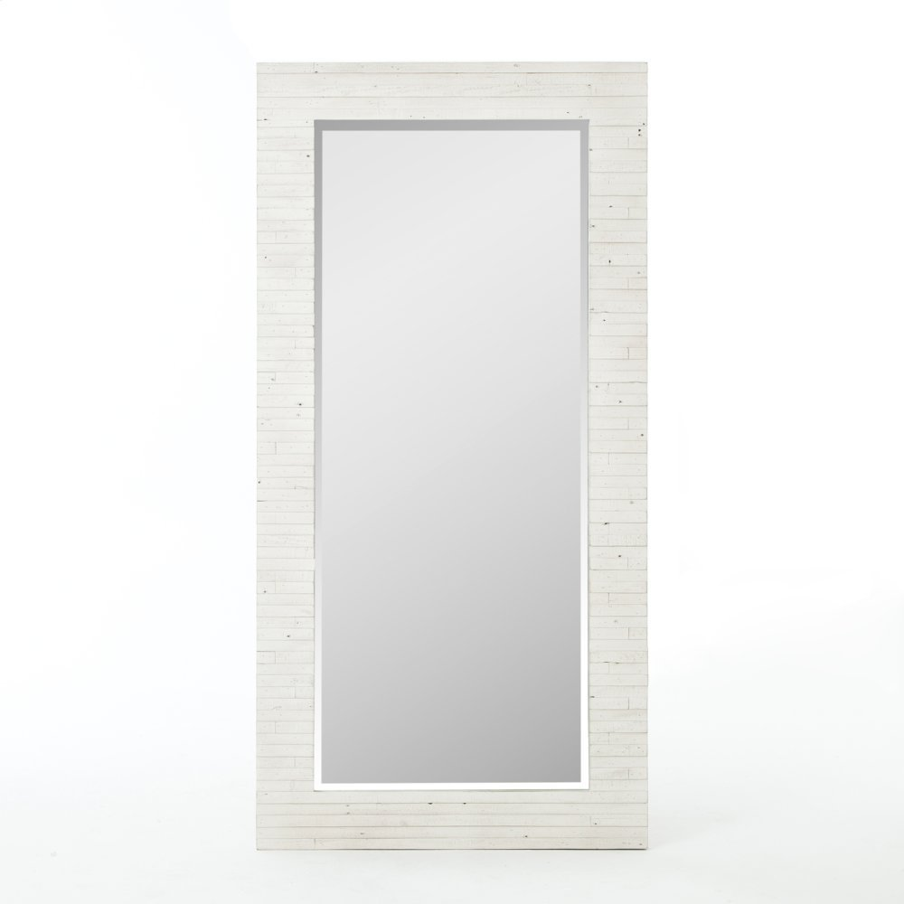 Tuscanspring Floor Mirror-limestone Whi