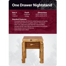 One Drawer Nightstand- Traditional