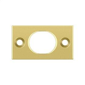 """Strike Plate For 6"""" Flush Bolt - Polished Brass"""