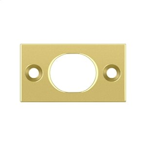 "Strike Plate For 6"" Flush Bolt - Polished Brass"