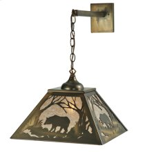 "15.5""W Bear at Dawn Hanging Wall Sconce"