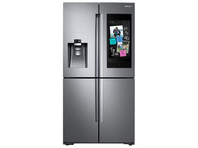 Samsung22 Cu. Ft. Family Hub Counter Depth 4-Door Flex Refrigerator In Stainless Steel