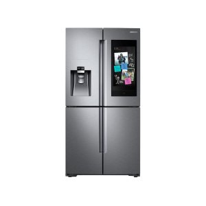 22 cu. ft. Family Hub Counter Depth 4-Door Flex Refrigerator in Stainless Steel - FINGERPRINT RESISTANT STAINLESS STEEL