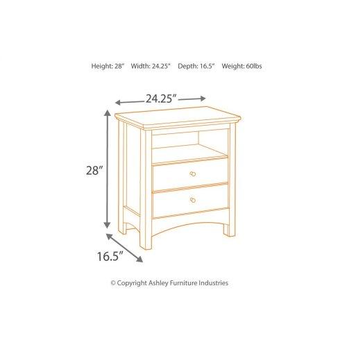 B208 One Drawer Nightstand (Harmony)