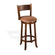 """30""""H Santa Fe Swivel Barstool w/ Cushion Seat"""