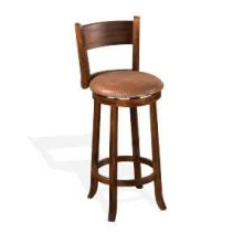 "30""H Santa Fe Swivel Barstool w/ Cushion Seat"