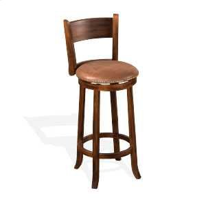 "Sunny Design30""H Santa Fe Swivel Barstool w/ Cushion Seat"