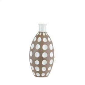 """Ceramic Concave Bubbles VASE,13.75"""" Brown"""
