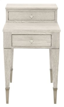 Domaine Blanc End Table in Domaine Blanc Dove White