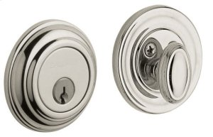 Polished Nickel with Lifetime Finish Traditional Deadbolt