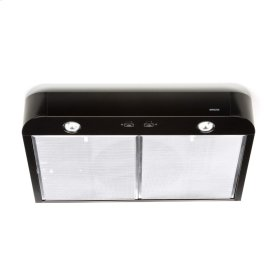 Antero 30-inch 250 CFM Black Range Hood with light