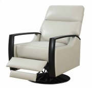 Recliner Swivel Leather Off White Black Base Kd Product Image