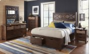 Painted Canyon Queen Footboard W/drawers and Slats Product Image
