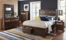Painted Canyon Queen Footboard W/drawers and Slats