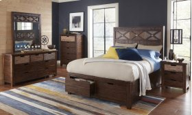 Painted Canyon Cal King Footboard W/drawers and Slats