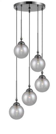 40W x 5 Prato metal/glass 5 lights chandelier