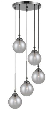 40W x 5 Prato metal/glass 5 lights chandelier