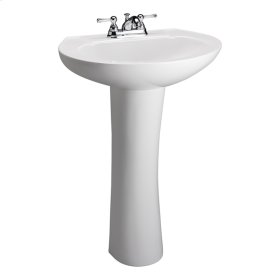 Hampshire 575 Pedestal Lavatory - White