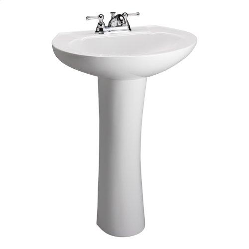 Wynne 705 Pedestal Lavatory - White