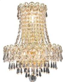1902 Century Collection Wall Sconce with Neck Gold Finish