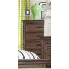 Franco Burnished Oak Five-drawer Chest