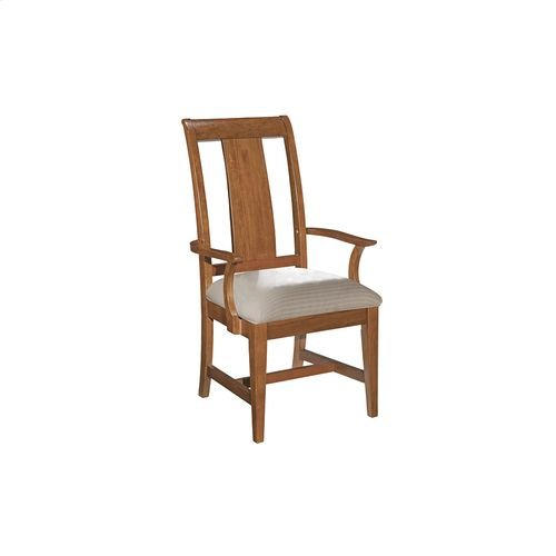 Cherry Park Arm Chair Upholstered Seat