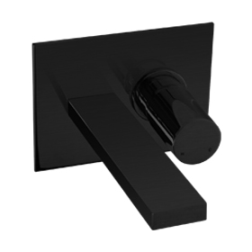 In Wall Lav Faucet - Black