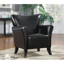 Casual Black Accent Chair