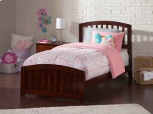 Richmond Twin XL Bed with Matching Foot Board in Walnut