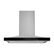 """Lustre Stainless 36"""" Pyramid Style Island Mount Canopy Hood"""