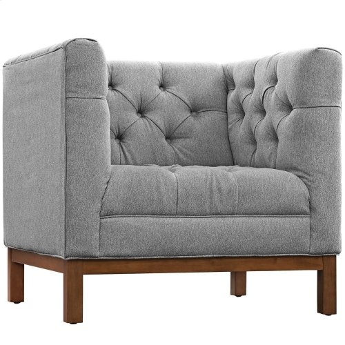 Panache Upholstered Fabric Armchair in Expectation Gray