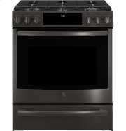 """GE Profile™ Series 30"""" Slide-In Front Control Gas Range Product Image"""