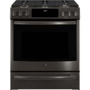 "GE ProfileGE PROFILEGE Profile(TM) Series 30"" Slide-In Front Control Gas Range"