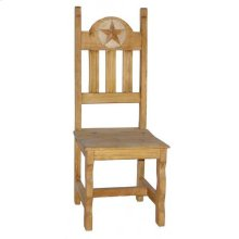 Wood Seat Marble Star Chair