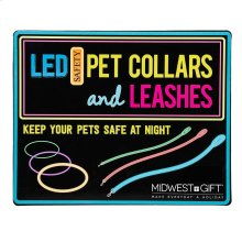 Pet LED Collars & Leashes Sign.