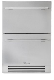 24 Inch Stainless Steel Undercounter Refrigerator Drawer - Stainless Steel